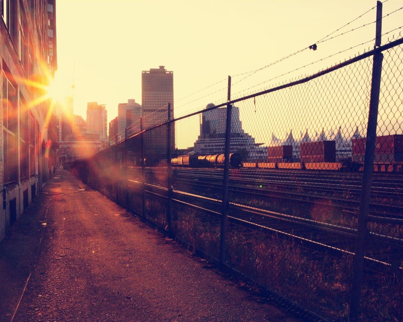 раннее утро в городе