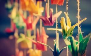 оригами журавлики